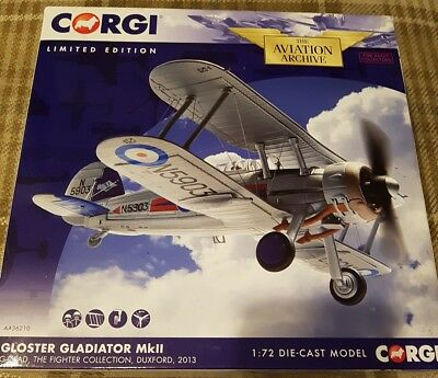 Corgi Aviation Archive 36210 Gloster Gladiator G-GLAD Fighter Collection Duxford