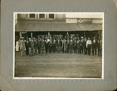 IOOF Odd Fellows Group in Front of Diamond Edge Tools Store Somewhere in Iowa