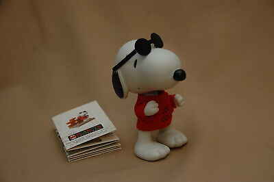 Peanuts Gallery Joe Cool Snoopy Jointed Ceramic Figurine Limited Edition