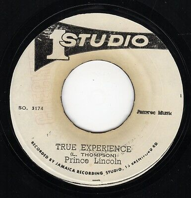 """ TRUE EXPERIENCE. "" prince lincoln. STUDIO ONE 7in 1973."