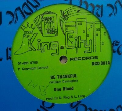 """ONE BLOOD be thankful / what about me 12""""  jah shaka killer roots"""