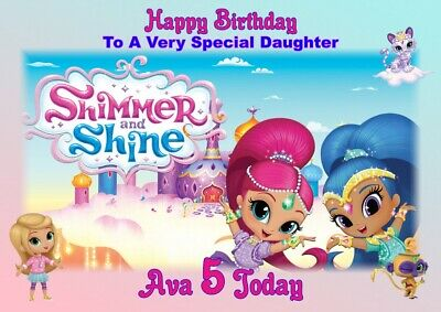 10 Personalised Childrens Birthday Party Invitations Shimmer and Shine Q201