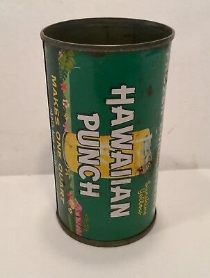 Hawaiian Punch Vintage Can Container Tropical Fruit Juice Tin Golden Early Rare