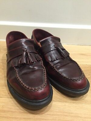 Dr Martens Adrian Tassel Loafers size 10 mod skinhead cherry red oxblood