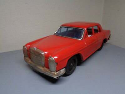 Bandai Japan Vintage 1960's Tinplate Mercedes Benz 250 Very Rare Item Very Good