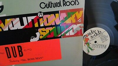 "CULTURAL ROOTS revolutionary sounds dub 12"" LP jah shaka killer roots"