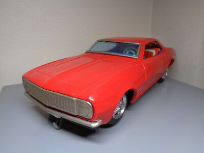 Taiyo Japan Vintage 1960's Tinplate Chevrolet Camaro Rare Item Very Good Cond.