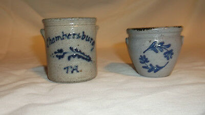 Miniature Rockdale Pottery Crocks