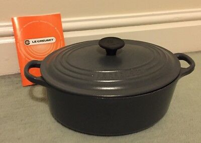 Le Creuset Signature Cast Iron 23cm Oval Casserole Grey Granite
