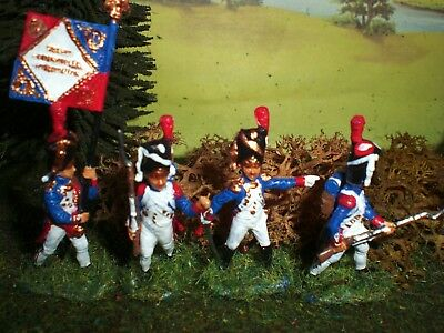 Painted French Old Guard Grenadiers Scale 1:72.
