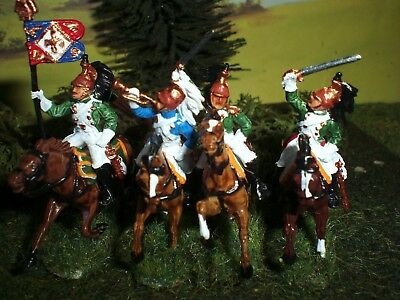 Painted French Imperial Guard Dragoons. Scale 1:72.