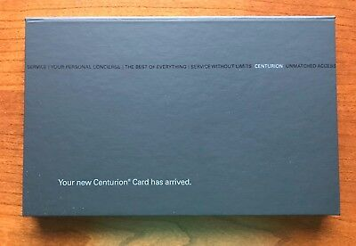 Authentic American Express AMEX Centurion Black Card Original Box
