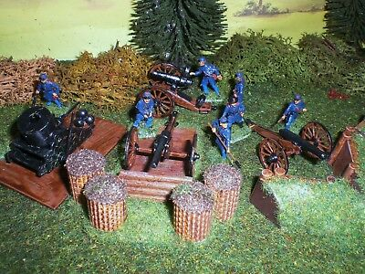 Painted American Civil War Union Artillery. Scale 1:72.