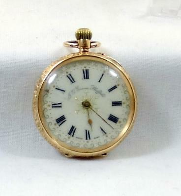 Exquisite 14 ct Solid Gold Cased J.G.Graves Antique Fob Watch.