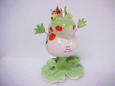 "Fanciful Frogs ""Frog Prince"" Figurine I'm Enchanted Kiss Me by Westland Giftware"