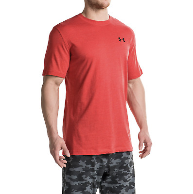 New Under Armour UA Men's Loose Fit Heatgear Short Sleeve Size S Red T-Shirt