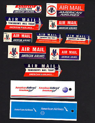 WHOPPER COLLECTION of 13 DIFFERENT American Airlines Items     **FREE SHIPPING**