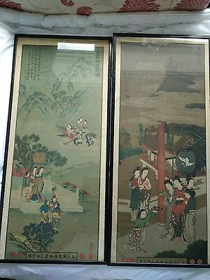 A Pair Antique China Print Advertisement
