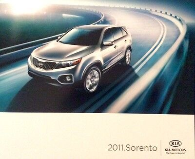 2011 Kia Sorento Original Sales Marketing Brochure