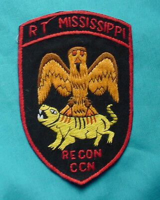 Original Us Army Special Forces Mac-Sog R.t.  Mississippi Ccn Recon Patch