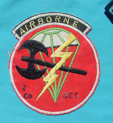 Original Us Special Forces Airborne C Co. Macv-Sog Ccc Machine Embroidered Patch