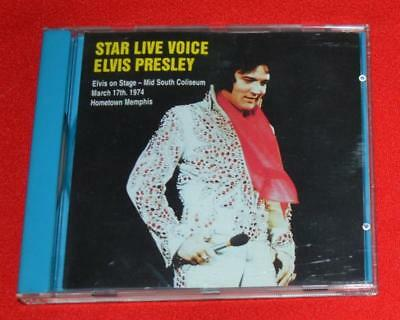 "Elvis ""Star Live Voice"" Original CD 3/17/74 Memphis Concert Mid South FINE CD"