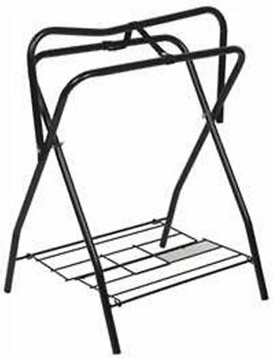 Folding Western English Horse Floor Saddle Rack Stand Tack Metal  4601 Lot of 2