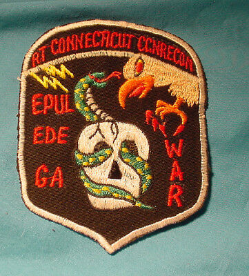 """Us Macv-Sog Sf Recon Team Rt """"Connecticut"""" Ccn Vietnamese Embr. Patch"""