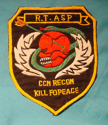 Real Us Army Special Forces Mac-Sog R.t. Asp Ccn Recon Kill For Peace Hand Patch