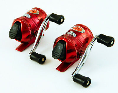 *(Lot Of 2) Zebco 11 Custom 11Candyaa-Candy Apple Red Spincasting Reel Bulk