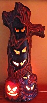 1993 Halloween Spooky Tree Foam Blow Mold With Spooky Eyes by Trendmasters