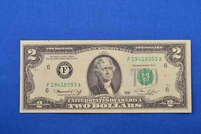 1976 American $2 Two Dollar Bill Federal Reserve Note. F19410353A. Ungraded
