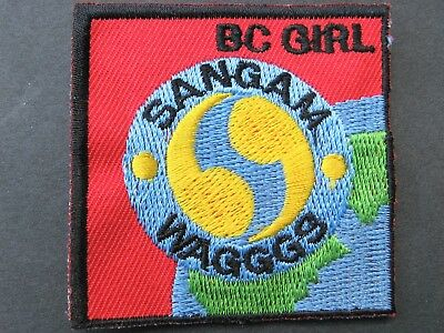 Girl Guides Canada Sangam Waggs Tour B.c. Embroidered Patch