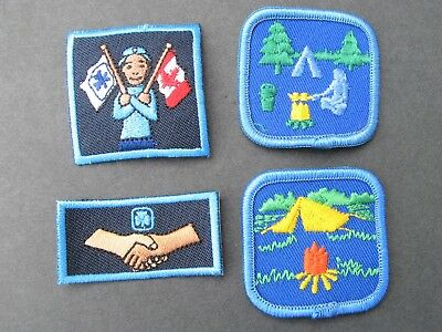 Girl Guides Canada 4 Merit Camping Proficiency Badges  Scouts Brownies