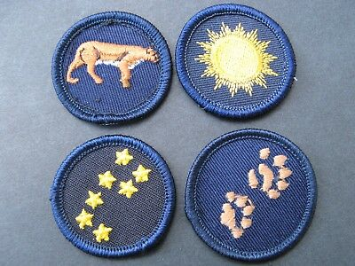 Girl Guides Canada  4 Merit Badges Patch Scouts Astronomy Tracking