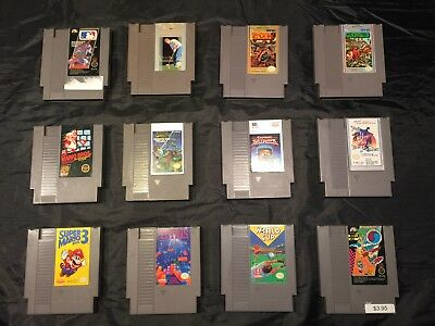 Lot of 12 Original NES Games