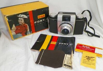Kodak Pony Ii Camera With Original Box And Papers  A4