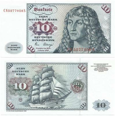 1980 WEST GERMANY Choice New ZEHN or 10 DEUTSCHE MARK Note GORGEOUS SAILING SHIP