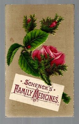 Schenck's Family Medicines late 1800's medicine trade card