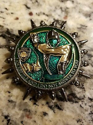 Reptile Mortal Kombat Nypd Challenge Coin