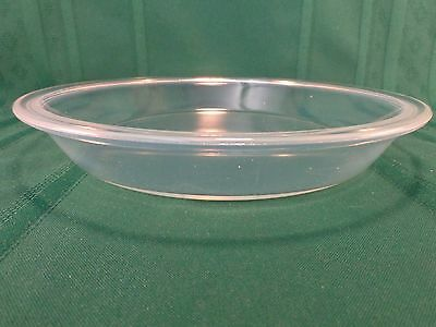 """Vintage 1921 Fry Opalescent Glass 10"""" Pie Pan Pearl Oven Ware Mould #1916 EX CON"""
