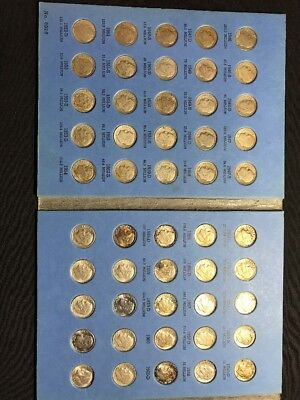 Roosevelt Dime Collection 1946-1964 90% Silver 50 dimes in Whitman Folder Lot R
