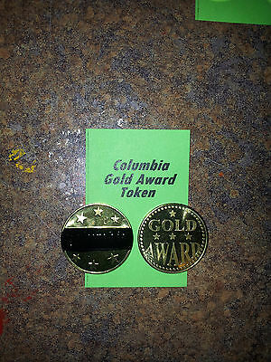 "Lot of (4) COLUMBIA Gold Award Tokens  ""BLACK"" for  Antique Slot Machine"