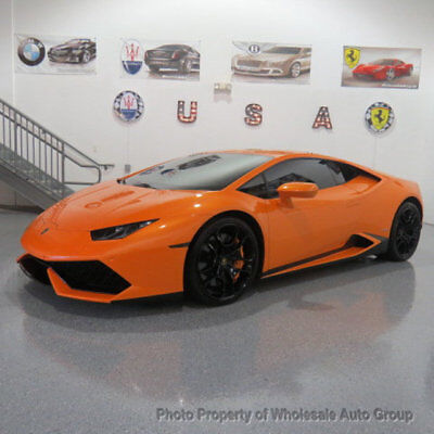 2015 Lamborghini Huracan 2dr Coupe LP 610-4 BEST COLOR. FACTORY WARRANTY. FULLY LOADED. CARFAX CERTIFIED.