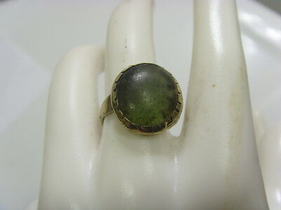 1700s antique Islamic Nomads tribal ring 8 size central Asia occult Djinn 48194