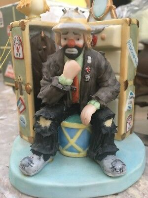 Flambro Emmett Kelly Jr. Collection  In The Spotlight Hobo Clown Limited Edition