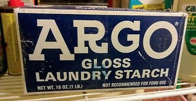 Vintage ARGO Gloss Laundry Starch~16 Oz.~Box Nearly Full and in Good Condition!!