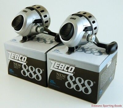 *(Lot Of 2) Zebco Magnum Drive 888 2.6:1 Gear Ratio Spincasting Reel