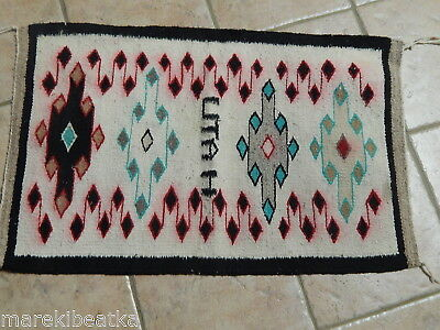 Antique  Navajo Indian  Hand Woven Rug From Utah