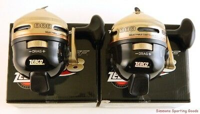*(Lot Of 2) Zebco The Prostaff Series Ps888 2.58:1 Gear Ratio Spincasting Reel